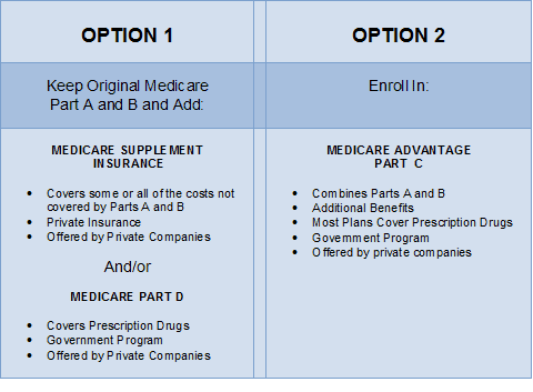 Medicare Options Chart